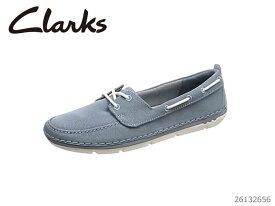【12/14 10:00〜当店限定ポイント10倍!エントリーで】 CLARKS クラークス シューズ レディース Step Maro Stand Blue Grey Textile 26132656