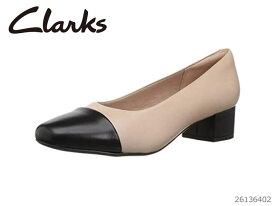 【12/14 10:00〜当店限定ポイント10倍!エントリーで】 CLARKS クラークス シューズ レディース Chartli Diva Nude Pink/Black Leather Combi 26136402