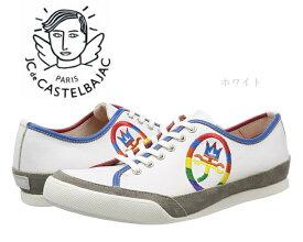 カステルバジャック レザースニーカー レースアップ ラウンドトゥ CA12195 ホワイト CASTELBAJAC メンズ 靴