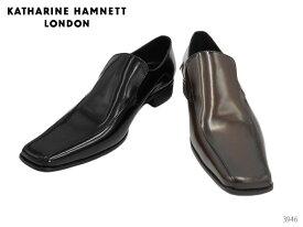 キャサリンハムネット ロンドン 3946 KATHARINE HAMNETT LONDON スリッポン スワールモカ スクウェアトゥ 靴 メンズ