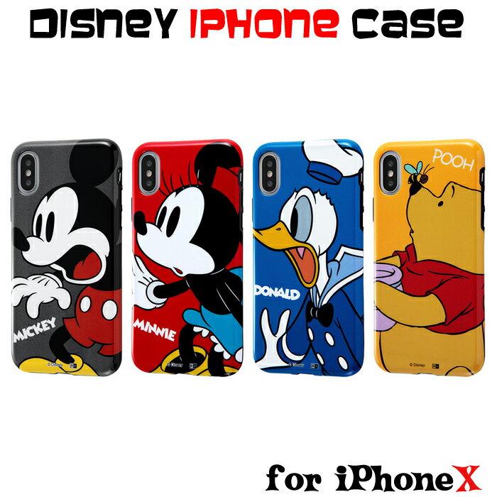 iPhoneX アイフォン10 スマホケース ディズニー ミッキー ミニー ドナルド ぷーさん TPUソフトケース Colorap