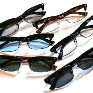 伊達メガネ メンズ 眼鏡 サングラス ブロウ サーモント ハーフリム おしゃれ かわいい レディース UVカット 黒縁 デミフレーム 人気