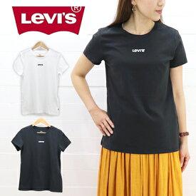 ≪5%OFF&ゆうパケットで送料300円≫Levi's LADIES FLOCKY LOGO PRINT T-SHIRT 17369-04 / リーバイス レディース フロッキーロゴプリント 半袖 Tシャツ 17369-04