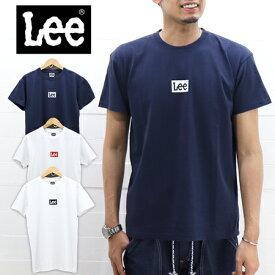 ≪15%OFF&ネコポスで送料216円≫Lee MENS MINI BOX LOGO TEE LT2550 / リー メンズ ミニボックス ロゴ プリント Tシャツ 半袖 LT2550