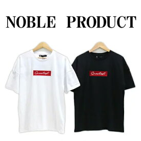 ≪SALE&ゆうパケットで送料300円≫NOBLE PRODUCT MENS BACK LOGO PRINT WIDE T-SHIRT N860-21G / メンズ バックロゴプリント 5分袖 Tシャツ BIG Tシャツ N860-21G