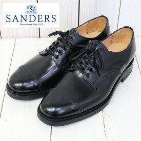 【クーポン配布中】SANDERS (サンダース)『Military Derby Shoe』(Black)【正規取扱店】【smtb-KD】【sm15-17】【楽ギフ_包装】【ダービーシューズ】