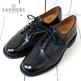 【10%OFFクーポン配布中】SANDERS (サンダース)『Female Plain Toe』(Black)【正規取扱店】【smtb-KD】【sm15-17】【楽ギフ_包装】【プレーントゥ】【ミリタリーコレクション】【レディース】