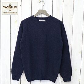 【10%OFFクーポン配布中】INVERALLAN (インバーアラン)『Crew Neck Sweater-Saddle』(New Navy)【正規取扱店】【楽ギフ_包装】【クルーネック】【ニット】【セーター】