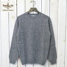 【10%OFFクーポン配布中】INVERALLAN (インバーアラン)『Crew Neck Sweater-Saddle』(Medium Grey)【正規取扱店】【楽ギフ_包装】【クルーネック】【ニット】【セーター】