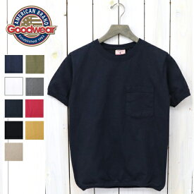 【10%OFFクーポン配布中】Goodwear (グッドウエア)『CREW-NECK S/S POCKET-T with CUFF AND HEM RIB』【正規取扱店】【smtb-KD】【sm15-17】【楽ギフ_包装】【TEE】【Tシャツ】【無地】【クルーネック】【ヘビーウェイト】