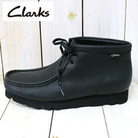 【10%OFFクーポン配布中】Clarks (クラークス)『WallabeeBT GTX』(Black Leather)【正規取扱店】【smtb-KD】【sm15-17】【楽ギフ_包装】【ワラビーブーツ】【レザー】【GORE-TEX】【ゴアテックス】