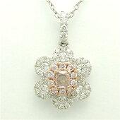 ダイヤモンド0.27PT/K18WGペンダント