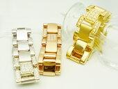 ダイヤモンドゴールドチェーンリングダイヤモンド0.1ct×K18(WG/YG/PG