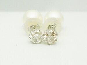 ダイヤモンドプラチナピアス ダイヤモンド0.20ct×0.20ct×PT900 スタッド ソリテール ソリティア ティファニー爪 6本爪