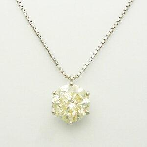 3カラットプラチナダイヤモンドネックレス ダイヤモンド3.247ct×プラチナ カラー VLY クラリティ I1 スタッド ソリテール ソリティア ティファニー爪 6本爪