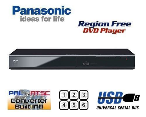 【PSE対応】【完全1年保証 3年延長保証対応】【パナソニック PANASONIC DVD-S500【HDMI端子 非搭載 コンパクトデザイン DVDリージョンフリープレーヤー(PAL/NTSC対応) 世界中のDVDが視聴可能】【販売店保証書/変換コンセント 付属】【海 外 仕 様】