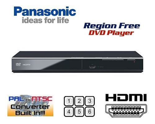 【安心の完全1年保証 3年延長保証対応】【パナソニック PANASONIC DVD-S700】【HDMI端子搭載 コンパクトデザイン DVDリージョンフリープレーヤー(PAL/NTSC対応) 世界中のDVDが視聴可能【販売店保証書/HDMIケーブル/変換コンセント 付属】【海 外 仕 様】