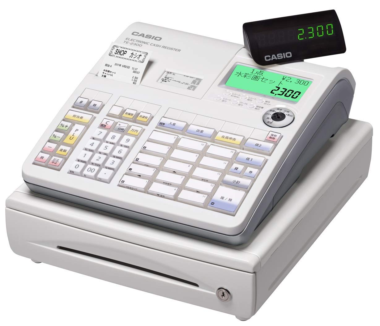 カシオ 電子レジスター TE-2300-15S-WE [CASIO TE2300-15S]