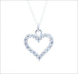 ハート ダイヤモンド ネックレス ジルコニア ネックレス デザイン ネックレス アクセサリー レディース ネックレス CZ キュービックジルコニア デザインジュエリー 【ダイヤモンドに匹敵する輝きがここに】