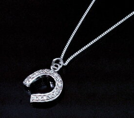 ダイヤモンド ネックレス ジルコニア アクセサリー メンズ ネックレス レディース ネックレス ユニセックス CZ キュービックジルコニア 蹄 デザインネックレス 【ダイヤモンドに匹敵する輝きがここに】