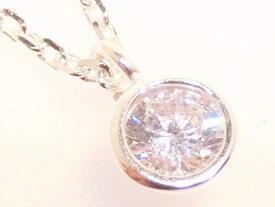 ダイヤモンド ネックレス ジルコニア ネックレス アクセサリー レディース ネックレス CZ キュービックジルコニア 一粒 ジュエリー 【ダイヤモンドに匹敵する輝きがここに】