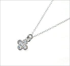 CZ ダイヤモンド ネックレス ジルコニア アクセサリー レディース ネックレス キュービックジルコニア フラワー デザインネックレス 【ダイヤモンドに匹敵する輝きがここに】