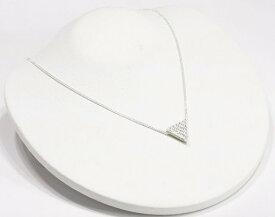 トライアングル 2WAY ネックレス CZ ダイヤモンド ネックレス ジルコニア アクセサリー 三角 ネックレス レディース ネックレス ジュエリー キュービックジルコニア デザインネックレス 【ダイヤモンドに匹敵する輝きがここに】