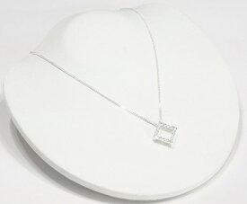 スクエア 2WAY ネックレス CZ ダイヤモンド ネックレス ジルコニア アクセサリー 四角 ネックレス レディース ネックレス ジュエリー キュービックジルコニア デザインネックレス 【ダイヤモンドに匹敵する輝きがここに】