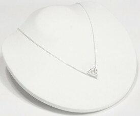 2WAY トライアングル ネックレス CZ ダイヤモンド ネックレス ジルコニア アクセサリー 三角 ネックレス レディース ネックレス ジュエリー キュービックジルコニア デザインネックレス 【ダイヤモンドに匹敵する輝きがここに】