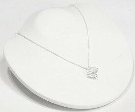 2WAY スクエア ネックレス CZ ダイヤモンド ネックレス ジルコニア アクセサリー 四角 ネックレス レディース ネックレス ジュエリー キュービックジルコニア デザインネックレス 【ダイヤモンドに匹敵する輝きがここに】