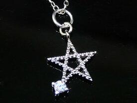 スター ネックレス CZ 一粒 ダイヤモンド ネックレス ジルコニア アクセサリー 星 ネックレス レディース ネックレス ジュエリー キュービックジルコニア デザインネックレス 【ダイヤモンドに匹敵する輝きがここに】