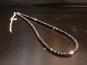ブラックスピネル ネックレス メンズ ネックレス ブラックダイヤ の輝き メンズアクセサリーネックレス men'sネックレス 大粒
