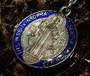 聖ベネディクト メダイ ネックレス ブルー メンズ ネックレス アクセサリー SV925 men's ネックレス 十字架 デザイン…