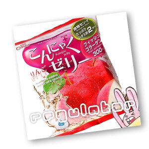 【2袋セット】(ちょっぴりお得!)雪国アグリ 蒟蒻ゼリー/こんにゃくゼリー りんごプラス/アップル味(コラーゲン入り) 6個入×2