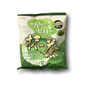 【2袋セット】(ちょっぴりお得!)雪国アグリ 蒟蒻ゼリー/こんにゃくゼリー 抹茶/宇治抹茶使用 6個入×2