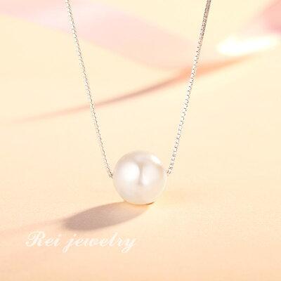 ネックレスレディースパールインフィニティキューブ小粒カーブ真珠シンプルシルバーゴールドピンクゴールドジルコニアプレゼント誕生日
