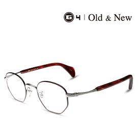 G4 Old & New 3659 W/BO 限定モデル 度付きメガネ 伊達メガネ メンズ レディース ユニセックス ジーフォー オールド&ニュー 日本製 本格眼鏡