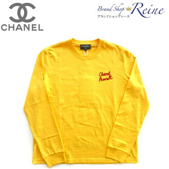 Chanel (CHANEL PHARRELL) Farrell Williams capsule collection Longus Reeve T-shirt Ron T #M yellow-limited product