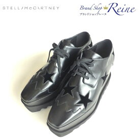 ステラマッカートニー (StellaMcCartney) ブラック エリス ELYSE スター シューズ 363998 靴 #40【新品同様】【中古】