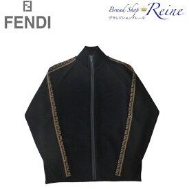 フェンディ (FENDI) FF ロゴ ストライプ ハイネック ジップ ウール ニット セーター カーディガン FAE532 #50【新品】