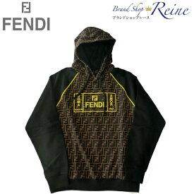 フェンディ (FENDI) Fendi Roma FF ロゴ ラグランスリーブ ジャージー パーカー FY0991 Lサイズ【新品】