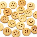 木製ボタン150個まとめパック木のボタン(ナチュラル)ウッドボタンセット手芸 スクラップブッキングやプレゼントラ…