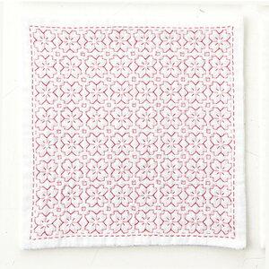 ●取寄品●刺し子ハンカチ(桜の花)/Sashiko Handkerchief「iine」は、抗菌・防臭ガーゼに#25刺しゅう糸を1本取りで刺していただく新アイテム