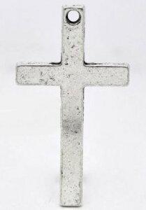 """取寄せ【メタルチャーム】""""Cross""""アンティークシルバーカラー◆業務パック◆アクセサリーチャームペンダントヘッドネックレストップ50個入/52mm×29mm"""