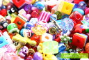 アクリルビーズ【おまかせ20g】セット プラスチックビーズプチ福袋/サイズ・デザイン色々ミックス