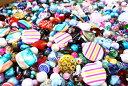ゆうパケット送料無料 福袋おまかせ300g ガラスビーズ等ミックスパック きれいなガラスビーズ玉がたっぷり!アンテ…