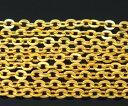 【アクセサリー用チェーン】10M巻(ゴールドカラー)メタルネックレスチェーンハンドメイドDIYアクセサリー製作に♪/…