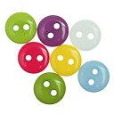 【ミニボタン】30個入(2つ穴)ポップボタンプラスチックボタン(カラフルミックスアソート)ファンシーボタン/9mm(30個)
