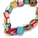 【シェルビーズ】140個ミックスカラー美しい貝殻の素敵なシェルビーズ ブレスレットやネックレスのパーツに…♪ハン…