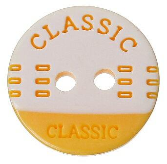 【プラボタン】10個入(イエロー)ポップボタンプラスチックボタン(CLASSIC)ファンシーボタン/13mm(10個)